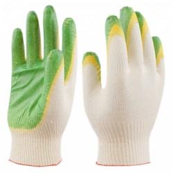перчатки трикотажные х/б с двойным латексным покрытием