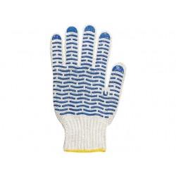 перчатки х/б 5 нитка с ПВХ волна №71 7,5 класс