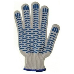 перчатки х/б с ПВХ 5 нитка волна №63