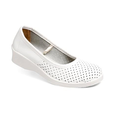 туфли женские кожаные с перфорацией